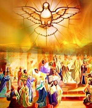 La llegada al mundo del espíritu santo