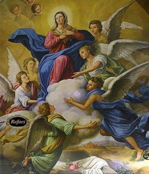 María asciende al reino de los cielos