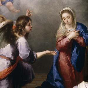 misterios gozosos - La Anunciación del Ángel a María