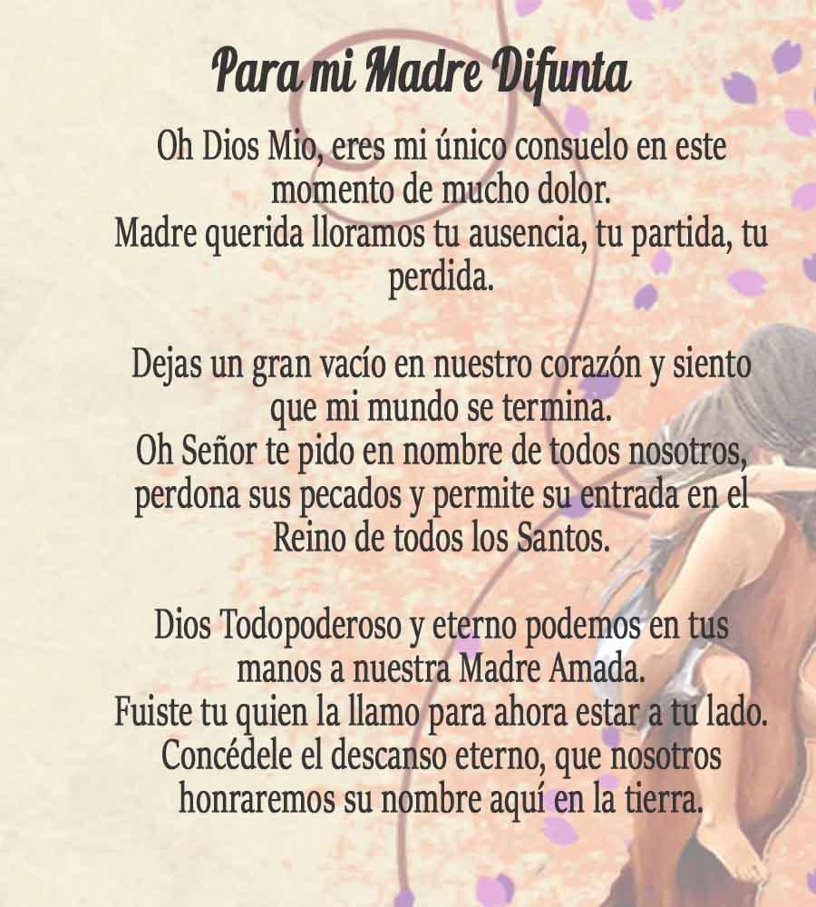 Oración Para Una Madre Difunta Señor Ten Piedad