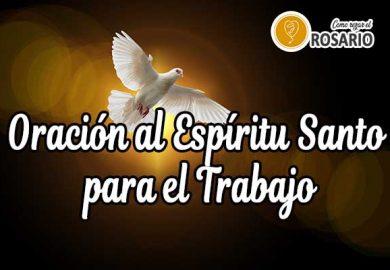 Oración al Espíritu Santo para el Trabajo