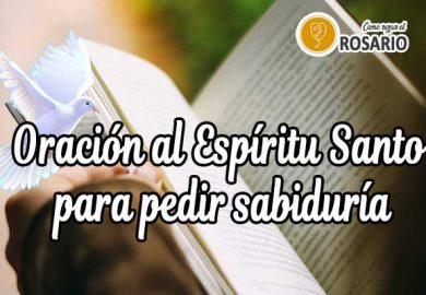 Oración al Espíritu Santo para pedir sabiduría