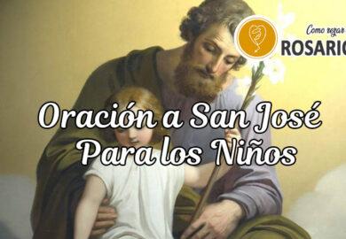 Oración a San José para los niños