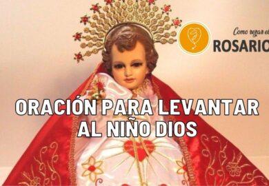 Oración para levantar al Niño Dios