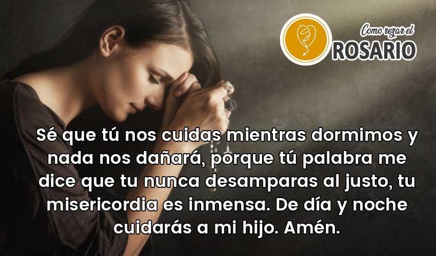 Oración de buenas noches para mis hijos para pedir protección