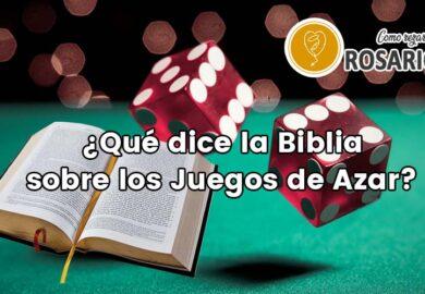 ¿Qué dice la biblia sobre los juegos de azar?